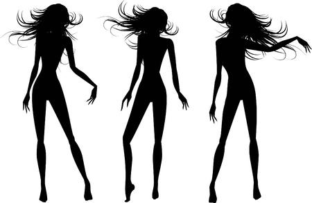 silueta masculina: el conjunto de siluetas de personas de vector