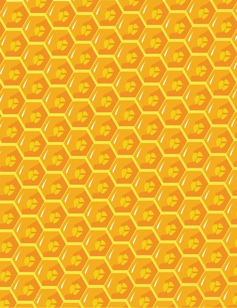 the orange and yellow honeycomb ornament photo