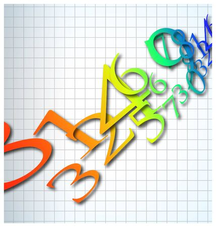 the abstract color number background Stock Photo - 8576832