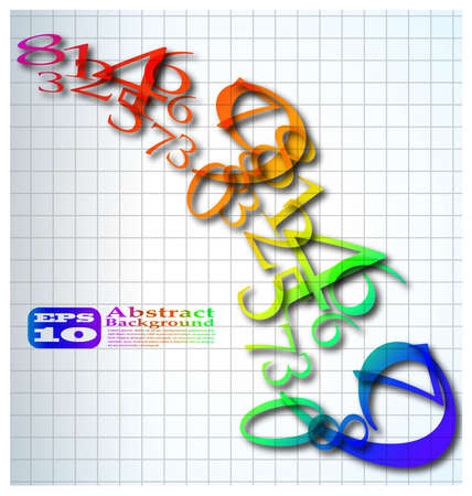 the abstract color number background Stock Photo - 8576839