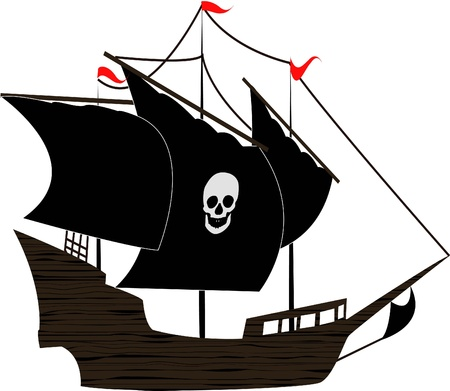 rope ladder: the Pirate sailboat