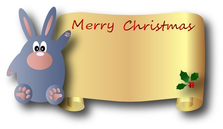 the vector Christmas and New Year banner Vector