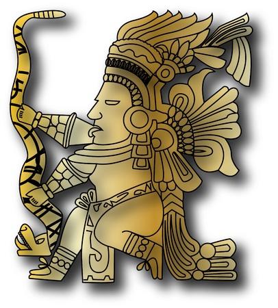 pagan: le vecteur tribal Maya et inca sur vieux papiers Illustration