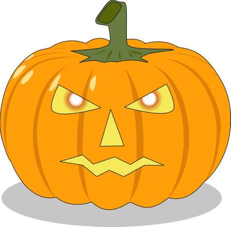 helloween: the vector helloween orange pumpkin