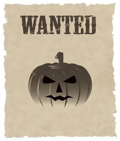 helloween: the vector helloween pumpkin wanted Illustration