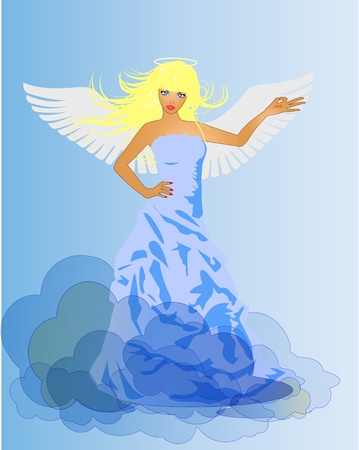 Angel and Devil retro woman Stock Vector - 8811366