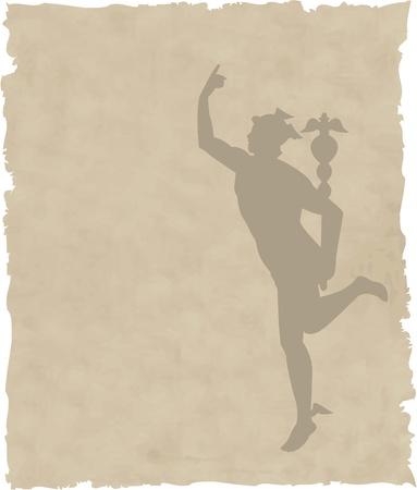 caduceo: el vector griego Dios Hermes