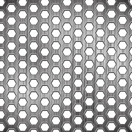 steel mesh: the abstract metallic background
