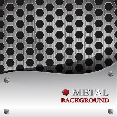 el fondo metálico abstracto Ilustración de vector
