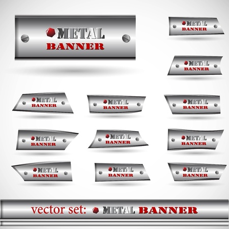 the abstract metallic banner set Stock Vector - 8918668