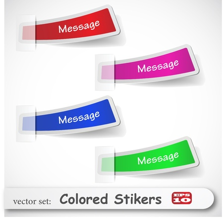 the abstract colored sticker set Stock Vector - 8918656