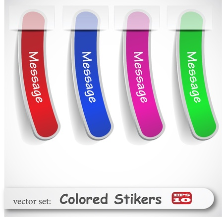 the abstract colored sticker set Stock Vector - 8918653