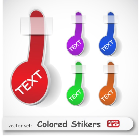 the abstract colored sticker set Stock Vector - 8918658