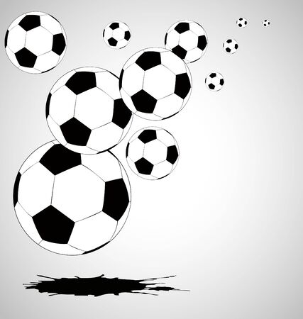 fast ball: the vector abstract soccer background Illustration