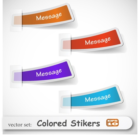 the abstract colored sticker set Stock Vector - 8918693