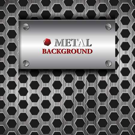 metal mesh: the abstract metallic background