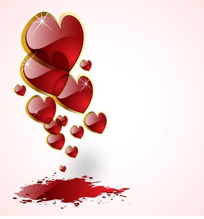 the vector abstract hearts background Vector