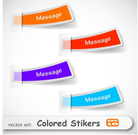 the abstract colored sticker set Stock Vector - 8982909