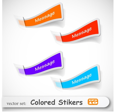 businnes: the abstract colored sticker set Illustration