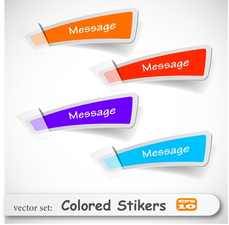 sticky paper: the abstract colored sticker set Illustration