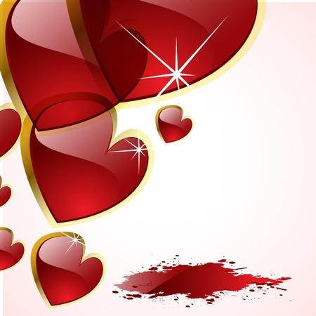 ロマンス: 抽象的な心のベクトルの背景