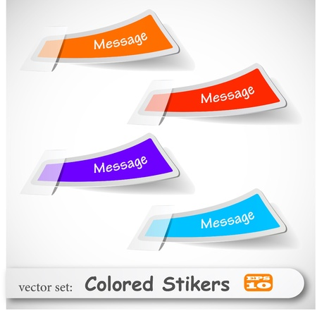 the abstract colored sticker set Stock Vector - 8982908