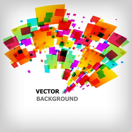 abstract letters: the abstract square colorful background Illustration