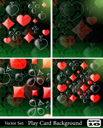 the vector abstract play card background set Vector