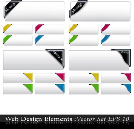 sale banner: The Vector Colored  Corner Ribbon Set