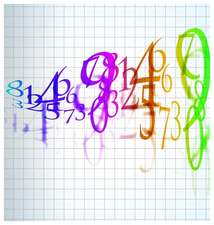 the abstract color number background Vector