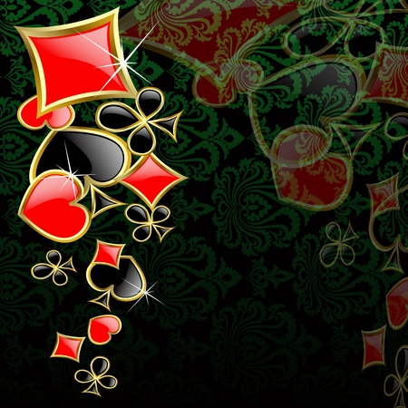 jack of clubs: the abstract play card background