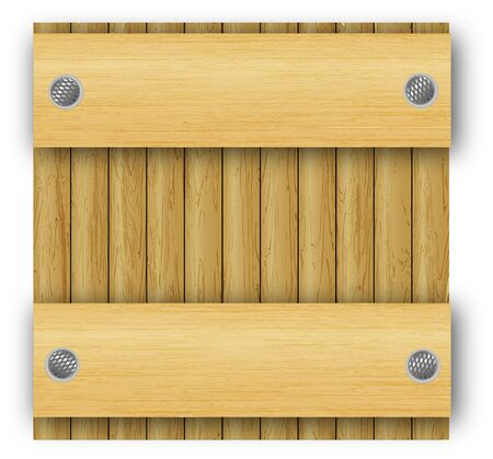 plank: abstract wood frame background  Illustration