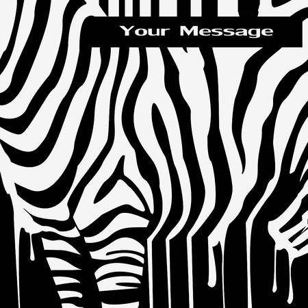 black and white zebra print design Vector