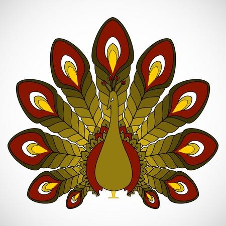 peacock design Vector