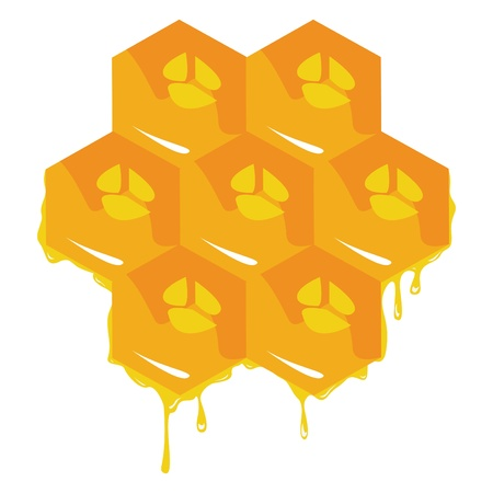 mead: Orange background about honeycombs.