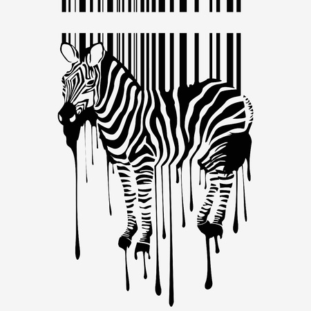 number code: the abstract zebra silhouette