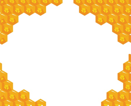 bee hive: Orange background about honeycombs.