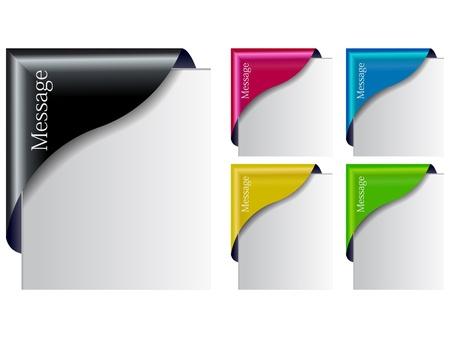 web banner: Colored  Corner Ribbon Set