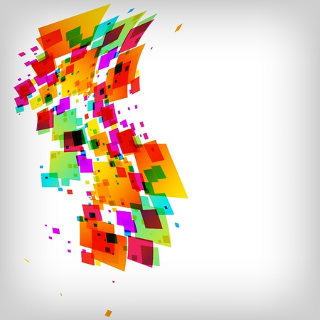 the abstract square colorful background Illustration