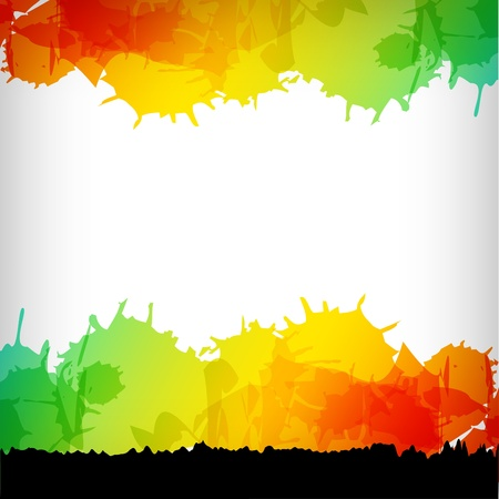 trendy: the abstract blot colorful background