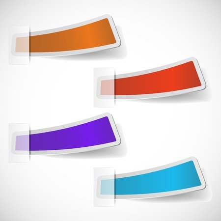 the abstract colored sticker set Vector