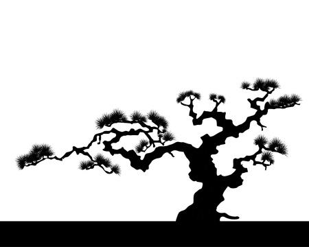 la silhouette di paesaggio giapponese