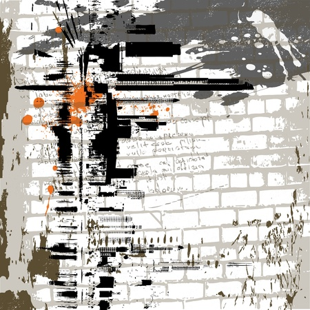 grunge: the abstract grunge wall background Illustration