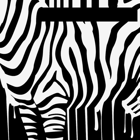 smudges: vector zebra silhouette with smudges barcode Illustration