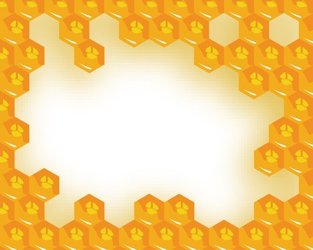 the vector bees and honeycomb with honey Vector