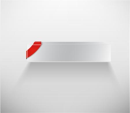 Blank White Box Vector