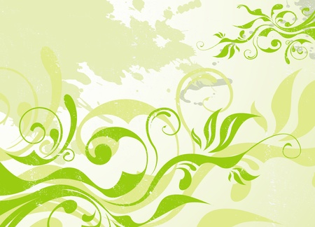 abstract vector green summer background Stock Vector - 10697070
