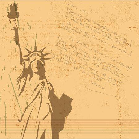 the vector retro Statue of Liberty background Stock Vector - 10697066