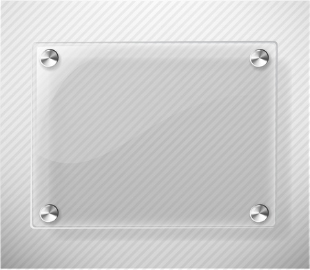 Glass Plate on White Background Stock Vector - 10697065