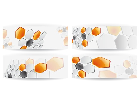 banner orizzontali: Estratto Honeycomb Banner orizzontale